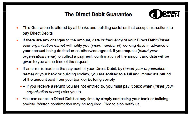 how to change the date of a direct debit