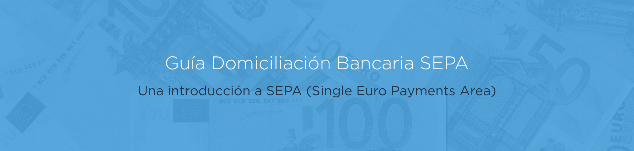 Guía Domiciliación Bancaria SEPA: Una introducción a SEPA (Single Euro Payments Area)