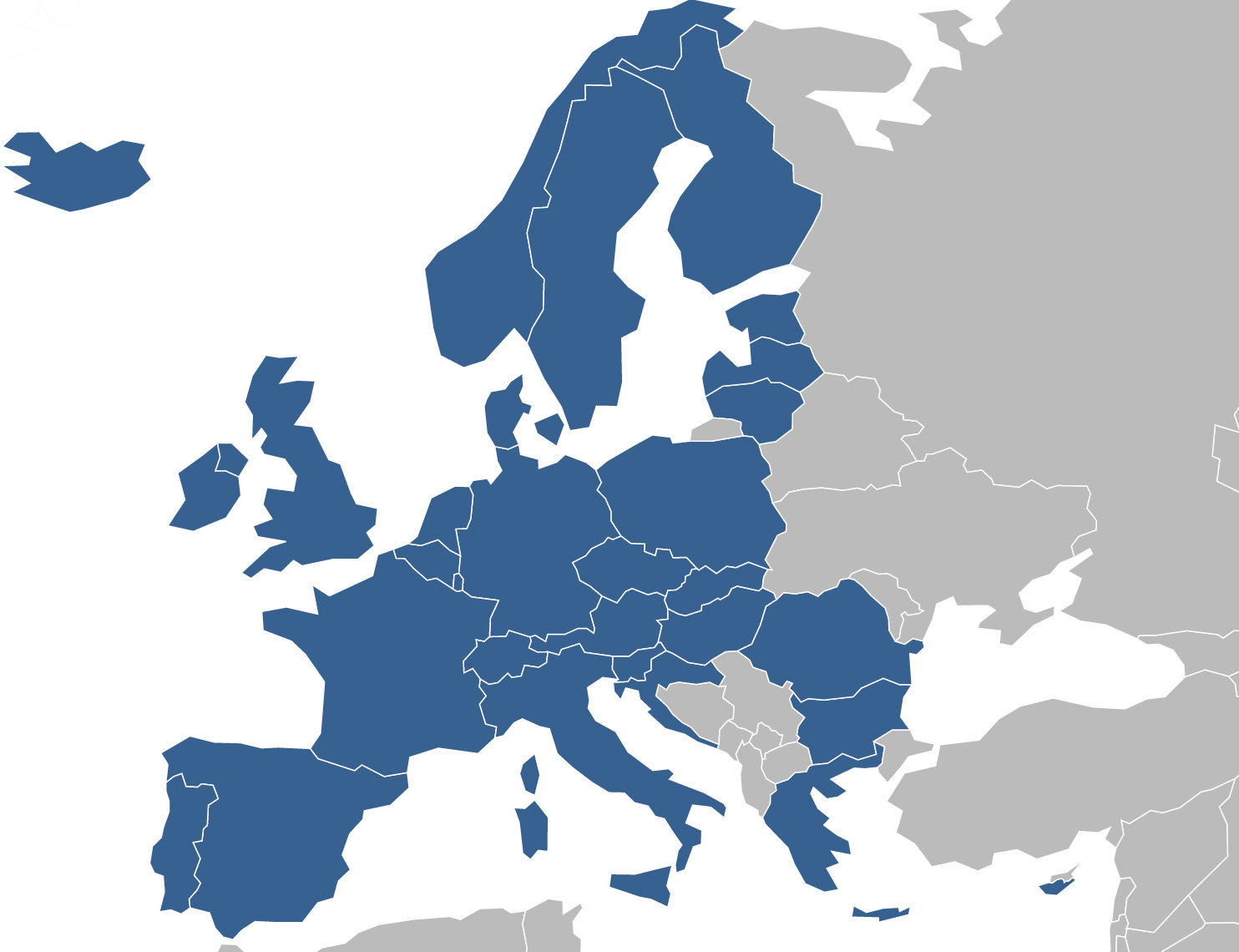 SEPA countries map